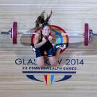 Canadian Marie-Julie Malboeuf was caught in action during the women's 58kg A Final at the Glasgow Commonwealth Games.