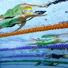Belinda Hocking of Australia competes in the 200m Backstroke at the Glasgow Commonwealth Games in Scotland.