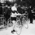 Rene Pottier, a French racing cyclist in the Tour de France in 1905.