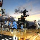 San Diego, Nov. 11, 2011 | North Carolina and Michigan State kicked off the 2011 college basketball season aboard the USS Carl Vinson off the coast of San Diego. The Tar Heels triumphed, 67-55.