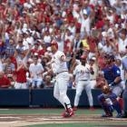 Busch Stadium, Sept. 7, 1998 | Cardinals slugger Mark McGwire hits his 61st home run of the season to tie Roger Maris' record. McGwire hit the record-breaking 62nd home run the next day, and he finished the season with 70. Barry Bonds later broke the record by hitting 73 homers in 2001.