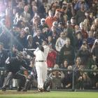 San Francisco, Aug. 7, 2007 | Barry Bonds watches career home run No. 756 leave AT&T Park in a game against the Washington Nationals. The blast broke the career home run record held by Henry Aaron for 33 years.
