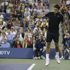 Darth Federer, version 2.0 at the U.S. Open.