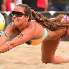 Sarah Day's digging wasn't enough to get and partner Christal Engle past a tie for 13th.