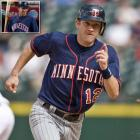 """Twins shortstop Adam Everett wore a jersey with his team's state misspelled """"MINNESTOA"""" for five innings in a game against the Angels in Los Angeles on Aug. 22, 2008."""