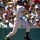 Andre Dawson's numbers started to decline in the latter stages of his career with the Red Sox (1993-94) and Marlins ('95-96).