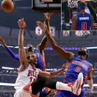 The Pistons' first misstep came before their game against the Bulls even began on Nov. 10, 2014. At no point between its stitching and its unveiling on the hardwood did anyone on Detroit's equipment staff notice that Andre Drummond's jersey wasn't quite right. By the second quarter Drummond's misprinted jersey had already been swapped out for a proper replacement. Drummond himself, however, sat in an offensive funk throughout the first half while going 0-for-5 from the field.