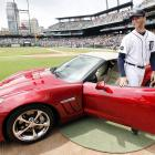 Tigers pitcher Armando Galarraga was presented with this Chevrolet Corvette on June 3, 2010, the day after he lost a perfect game with two outs in the ninth inning on a controversial call at first base.