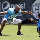 Josh Thomas with his son Dallas.