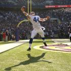 Tight end Dallas Clark was just as integral to the Colts' aerial attack in the 2000s as any other of Peyton Manning's pass catchers. Wideouts Marvin Harrison and Reggie Wayne may have been more celebrated, but Clark proved to be a steady, reliable presence for Manning. His only Pro Bowl season came in 2009, when he became only the second tight end ever to haul in 100 receptions in a season. He finished the year with 100 catches for 1,106 yards and 10 touchdowns. Clark suffered a season-ending wrist injury in 2010, which continued to hamper him throughout the 2011 season. The Colts released him the following offseason and he played one year each with the Buccaneers and Ravens.