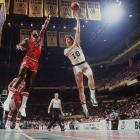"""Known as """"The Cow"""" or """"Big Red,"""" Dave Cowens' smooth left hand was responsible for more than 13,000 career points and MVP honors in 1973."""