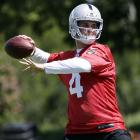 Derek Carr's case is interesting.  On the one hand, he is going to play for the Oakland Raiders, and barring some miraculous rebirth of Matt Schaub, Carr will one day be the starter for the team.  However, he's got a lot working against him.  Many critics have questioned his ability to be smart by staying in the pocket and not rushing things.  In fact, he's been compared, inevitably so, to his older brother David, who's remembered as one of the worst quarterbacks in recent memory.  How Carr responds to the naysayers will be a great indicator of whether he can succeed in this league or not, and it all begins at training camp.