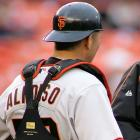"""Eliezer Alfonzo made his big league debut on June 3, 2006 with his name spelled with an """"S,"""" instead of a """"Z."""" He crushed a two-run shot in the sixth inning that ultimately won the game against the Mets, which may have explained why his jersey was still misspelled in the Giants' next game the following day."""