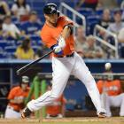 The Miami Marlins and outfielder Giancarlo Stanton reached a deal on Nov. 17, 2014, that will pay him $325 million over 13 years.  The deal also gives Stanton an early opt-out clause and a no-trade provision. Stanton had just completed his fifth season with the Marlins, batting .288 with an NL-leading 37 home runs in 2014. He also had 299 total bases, 105 RBI, 24 intentional walks and a .555 slugging percentage. He has led the NL in slugging percentage twice, in 2012 and '14.