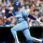 After languishing as a non-everyday player in the National League for four seasons, Hal McRae broke through with a move to the Kansas City Royals in 1973, conveniently the same year as the DH's implementation. McRae made his first of 1,426 appearances in the designated hitter's spot in the ninth game of the year that season, splitting time between DH and outfield for much of his career before switching to the DH full time in his 30s. A career .290 hitter, McRae batted above .300 six times and twice led the American League in doubles.