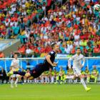 Another angle on the header by Robin van Persie.
