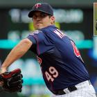 """Despite being laughed at for reasons unknown to him (like the """"H"""" and """"I"""" being switched on his jersey to spell """"MANSIHP"""") while warming up in the bullpen, Twins reliever Jeff Manship pitched a scoreless inning in the Twins 4-2 win over the Royals on June 6, 2012."""