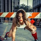 Female running back Jen Welter