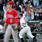 Jim Thome's 500th home run came in style. On Sept. 16, 2007, with the score tied 7-7 in the bottom of the ninth, Thome blasted a two-run, walkoff shot off Dustin Moseley to beat the Angels 9-7.