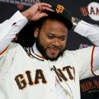 Cueto, 29, signed with the San Francisco Giants on Dec. 14, 2015. He finished the 2015 season with the Kansas City Royals after being acquired from the Cincinnati Reds at the trade deadline. Though he struggled after moving to the American League, Cueto posted a 3.44 ERA, 1.13 WHIP, 176 strikeouts and an 11–13 record over 212 innings split between Cincinnati and Kansas City. He was the winning pitcher in Game 2 of the World Series, helping the Royals win their first championship since 1985. In eight major league seasons, Cueto holds a career 3.30 ERA and 1.18 WHIP; he has made one All-Star team, back in 2014, and also finished second in the NL Cy Young voting that year.