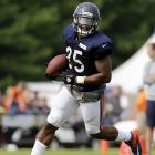 Carey is an all-around running back who is capable of stepping in and producing for fantasy owners if Matt Forte gets hurt. He's the type of rookie who would be a hot commodity if he were drafted by a team without an elite running back.