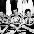 This trio of proud German heritage powered the Bruins through the late 1930s and into the mid-'40s. In 1939-40, the Kraut Line became the first to ever finish 1-2-3 in league scoring with center Schmidt tallying 52 points, left winger Dumart 43, and right winger Bauer 43.