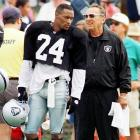 Fresh off a Super Bowl victory in which he was named MVP, Brown signed with the Raiders in 1996 for $12.5 million over five years. In his two years with the franchise, Brown played in just 12 games, started in only one, and earned a four-week suspension for ''conduct detrimental to the team.'' He was released in 1998.
