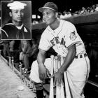 Doby served in the Navy from 1944 to '46 and saw combat in the Pacific theater. After his discharge, he broke the American League's color barrier when he signed with the Cleveland Indians in 1947. The Hall of Fame outfielder played 13 major league seasons and hit 254 home runs.