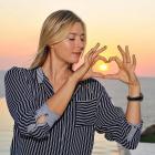 Maria Sharapova poses for a creative shot in Acapulco.