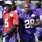 Teddy Bridgewater and Adrian Peterson