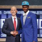 Vonleh's bright blue stands out, along with his risky white bow tie/gray shirt combination.