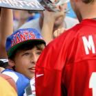 Eli Manning and fan