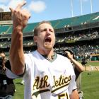 Braden was perfect on Mother's Day, recording the first perfect game for Oakland in 42 years. He was also the beneficiary of some flashy glovework, courtesy of Kevin Kouzmanoff, who sprinted to the dirt in front of Oakland's dugout to catch a foul popup by Dioner Navarro for the second out in the sixth.