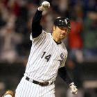 "The longtime White Sox slugger retired at the end of the 2014 season, completing an 18-year major league career, 16 of those spent in Chicago. Team owner Jerry Reinsdorf said ""of course"" Konerko's jersey will be retired and that the six-time All-Star is ""worthy of a statue."" He added that Konerko has ""always conducted himself with class."" Konerko has 439 career home runs — with all but seven coming for Chicago — 1,412 RBIs and an .841 OPS."