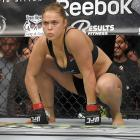 Ronda Rousey gets ready to fight Cat Zingano at UFC 184.