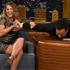"Ronda Rousey shows Jimmy Fallon what an armbar is during her visit to the ""The Tonight Show Starring Jimmy Fallon."""