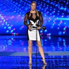 Ronda Rousey accepts the Best Female Athlete award during The 2015 ESPYS at Microsoft Theater in Los Angeles.