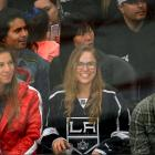 Ronda Rousey attends an NHL game between the Los Angeles Kings and the Colorado Avalanche.