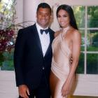 The Seattle Seahawks quarterback and the singer/songwriter confirmed dating rumors when the two attended the President Obamas' Japanese state dinner at the White House as a couple on April 28, 2015. Wilson announced their engagement on March 11, 2016 via Instagram.