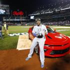 World Series MVP Salvador Perez received a 2016 Chevy Camaro after the Kansas City Royals defeated the New York Mets in five games to win the 2015 title. Here's a look at his new ride and those of other athletes across the years.