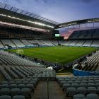A general view of the Arena Corinthians Stadium during the match between Corinthians U20 v Corinthians U17 as part of the last technical test event on June 08, 2014 in Sao Paulo, Brazil.