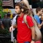 Kyle Beckerman of the U.S. arrives at the team hotel in Sao Paulo, Brazil, Monday, June 9, 2014. The U.S. will play in Group G.