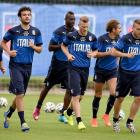 Players of Italy during a training session on June 10 in Rio de Janeiro.