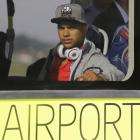 United States' national soccer team player DeAndre Yedlin arrives at the Sao Paulo International airport in Brazil, Monday, June 9, 2014.