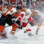 The legendary Russian defenseman was dealt by the Devils on April 3, 1995. In Detroit, he replaced the injured Mark Howe and the Wings soared to the Cup finals where they were swept by Fetisov's former team. But Fetisov later skated for Detroit's 1997 and '98 Cup-winners.