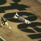 "The play could have tied the score at 21 late in the third quarter and, perhaps, punctuated Jackie Smith's storied career with a happy exclamation point. But Cowboys quarterback Roger Staubach screamed and convulsed when his easy touchdown pass bounced off the Hall of Famer tight end's hands. Coach Tom Landry winced. Broadcaster Verne Lundquist captured the pained emotion of the moment perfectly: ""Bless his heart. He's got to be the sickest man in America."" He was. Dallas settled for a field goal and though it scored two touchdowns in the fourth quarter, so did the Steelers, who won the shootout, 35-31."