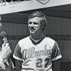 Turner bought the Atlanta Braves in 1976 and immediately set his sights on free agent Gary Matthews. Unfortunately, that pursuit led to tampering charges and Turner was slapped with a one-year suspension from baseball. He was at the center of controversy soon after when he donned a Braves uniform and became manager for a day to help his team break a 17-game losing streak. The move was met with widespread criticism from players and fans.