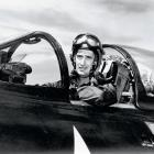 """""""Teddy Ballgame"""" entered active duty with the Navy in 1943, one year after winning the AL Triple Crown. Williams served three years and was certified as a Naval Aviator in 1944. Eight year later, at the age of 33, Williams was recalled to active duty for service in the Korean War, where he flew 39 combat missions. The Red Sox great hit 521 home runs and had a lifetime .344 batting average."""