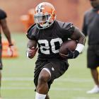 The rookie will need to beat out veteran Ben Tate for touches, but his upside is enormous. Browns running back coach Wilbert Montgomery recently told reporters, ''He has that Ricky Watters, Walter Payton, lure-you-to-sleep-on-the-sideline move that I can accelerate or play like I'm going to accelerate and come back inside. Those are traits I haven't seen in a while.''