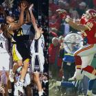 Before he launched a Hall of Fame career as a tight end for the Chiefs and Falcons, Tony Gonzalez appeared in four NCAA tournament games during his junior and senior years in UC Berkeley. After a first-round exit at the hands of Iowa State in 1996, Gonzalez averaged 29.6 minutes and 13.3 points per game the following March during the No. 5-seed Golden Bears' run to the Sweet Sixteen, where they came up short against top-seeded North Carolina.